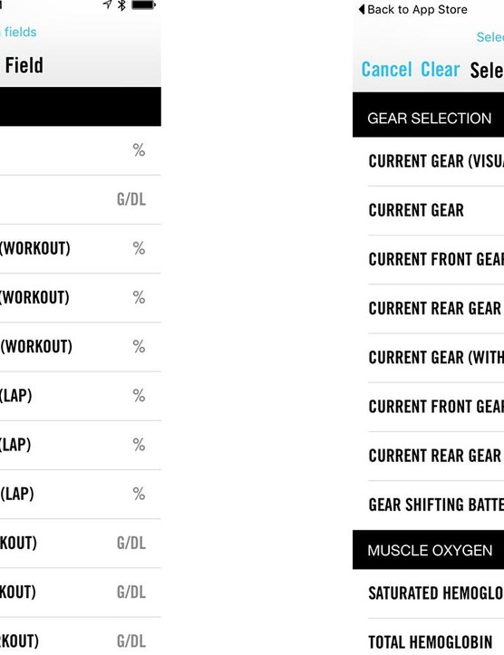 The Elemnt fields are configured on a paired smartphone