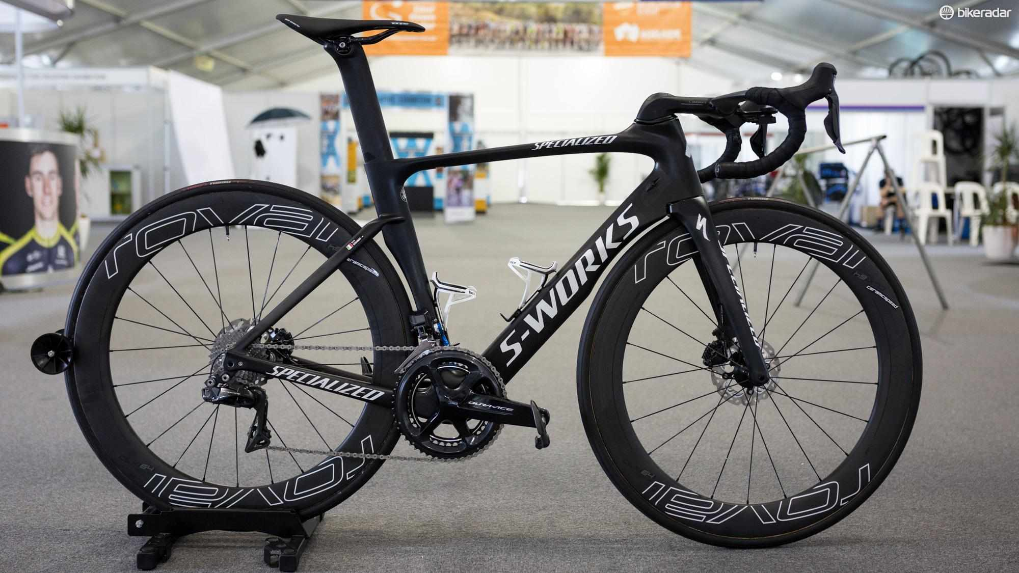 Elia Viviani rode this S-Works Venge ViAS to victory in stage 3 of the Tour Down Under