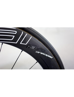 64mm deep rims for the Italian sprinter's aero ride