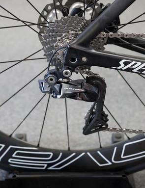 The bike has the latest Shimano Dura-Ace Di2 drivetrain