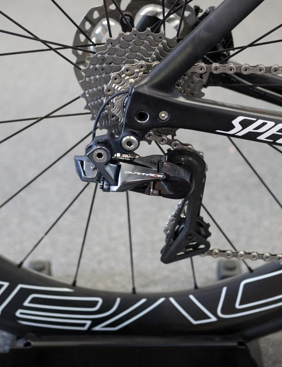 The bike has the latest Shimano Dura-Ace Di2 drivetrain