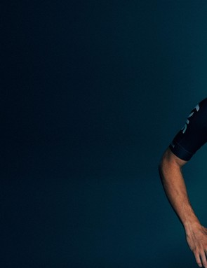 Elia Viviani models Castelli's kit for Team Sky