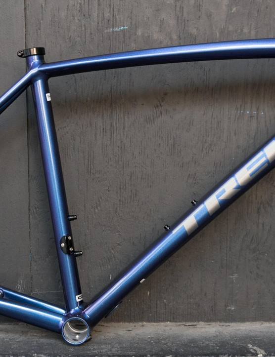 From some angles, the frame appears blue