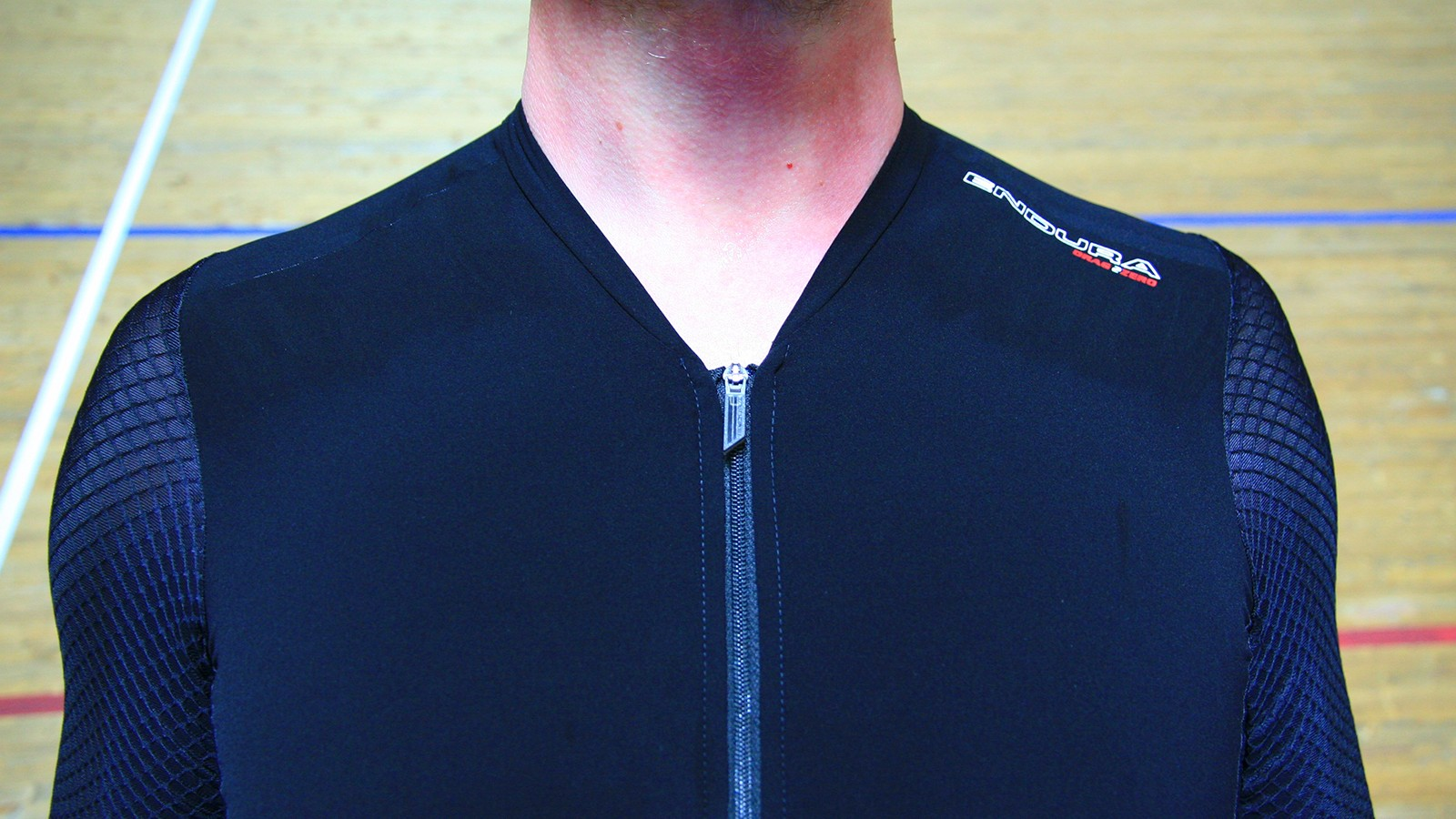 The zip is cut low under the neck, and proved comfortable