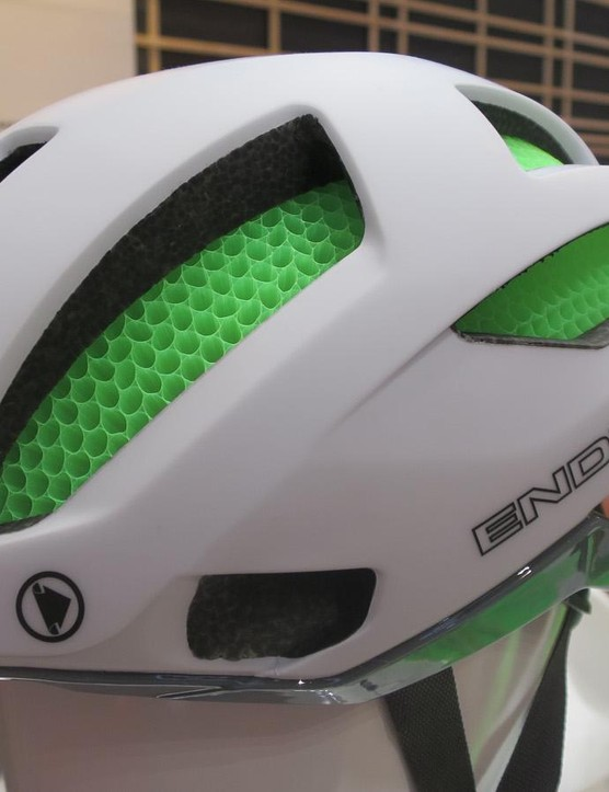 The new Pro SL lid is much more minimal and angular than Endura's previous road helmets and the honeycomb Koroyd core gets plenty of exposure on this design too
