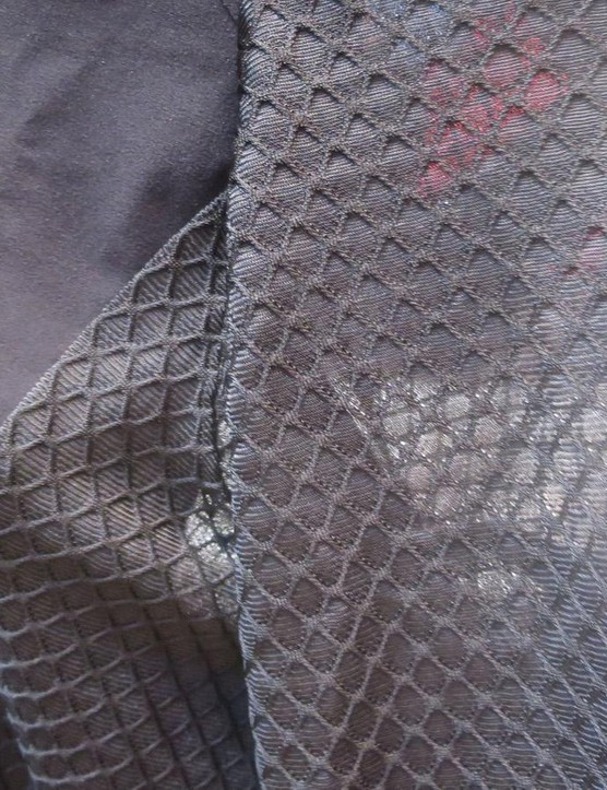 Rather than bonded silicon the road suit relies on custom woven material for its aero edge