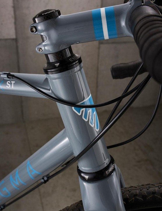 The Enigma's head-tube is reinforced for extra strength