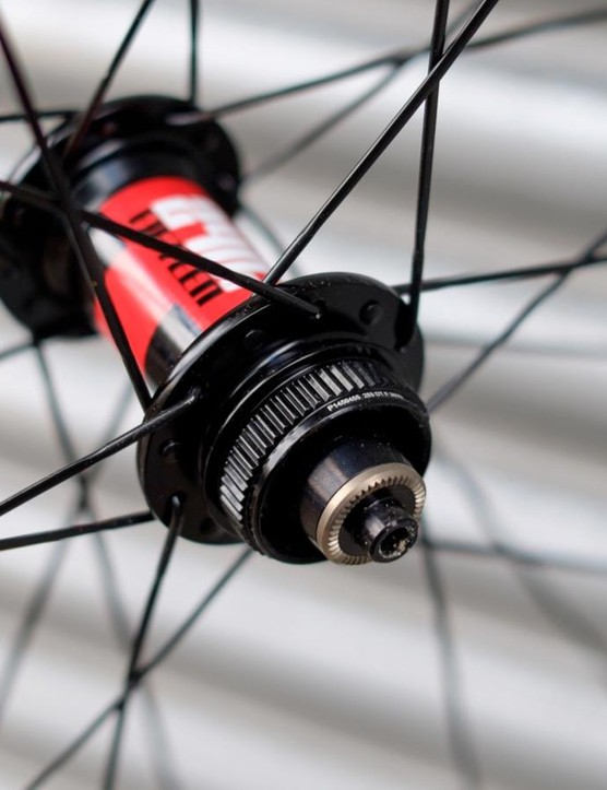 The set we've been sent are running on DT Swiss 240s hubs