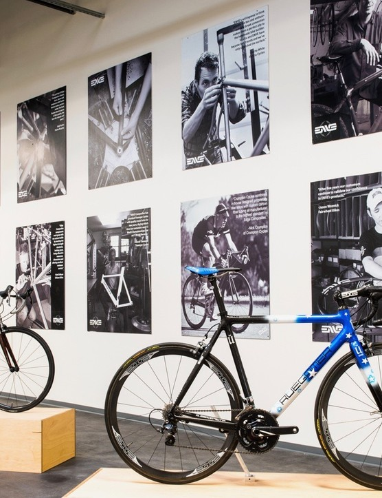 Part showroom, part factory — wheels usually look better in context on a bike