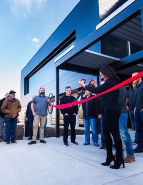 ENVE CEO Sarah Lehman opening the new facility in 2016