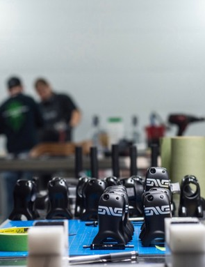 In addition to rims, ENVE's mountain bike stems are produced in Utah. Road stems, forks, seatposts and handlebars are manufactured in Asia