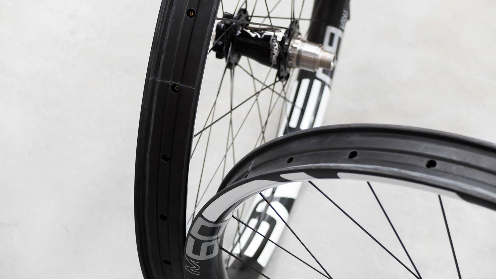 The dropped channel in the centre of the rim is said to improve tubeless set up