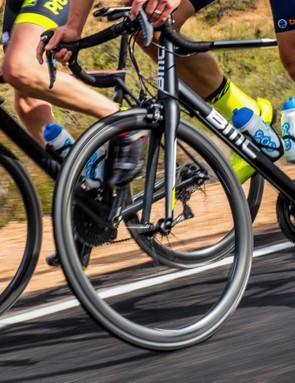 The wheels feel light and responsive when out of the saddle