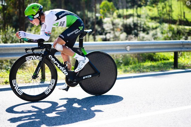 Dimension Data appears to have been testing prototypes of the wheel earlier this season