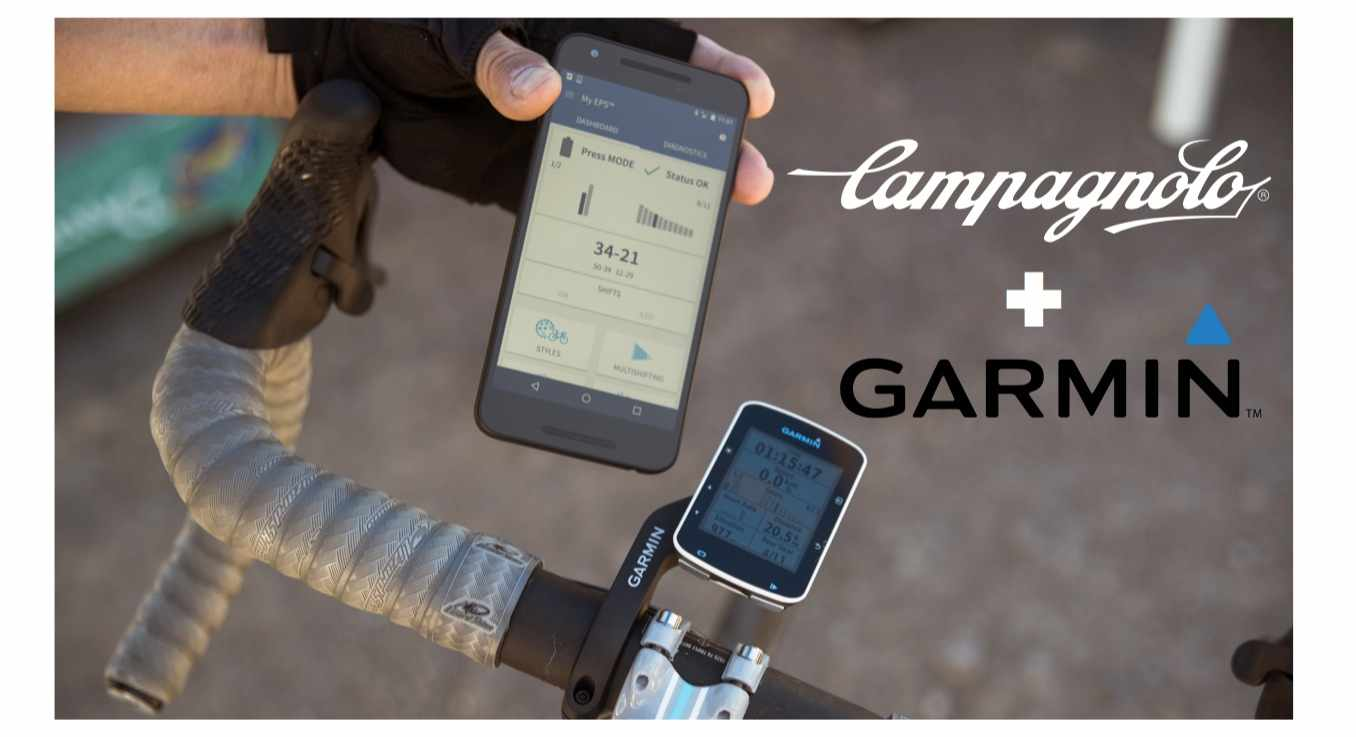 The Garmin Edge 520 and 100 computers now work with Campagnolo EPS and SRAM Red eTap electronic drivetrains as well as Shimano Di2