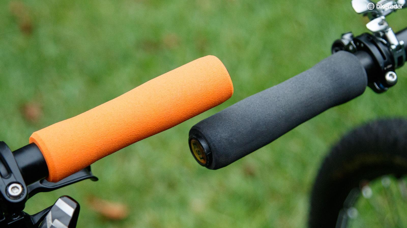 ORANGE ESI MTB RACERS EDGE 130 mm BIKE BICYCLE GRIPS