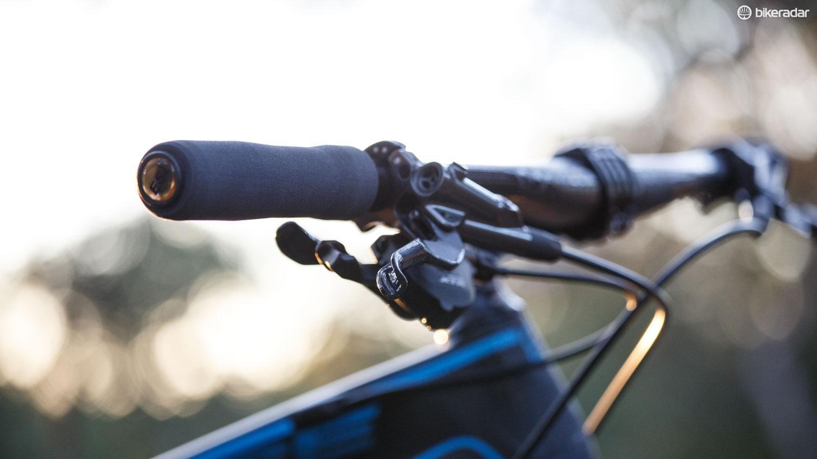 ESI Extra Chunky Silicone Handlebar Grips AQUA 130mm Mountain Hybrid Bike