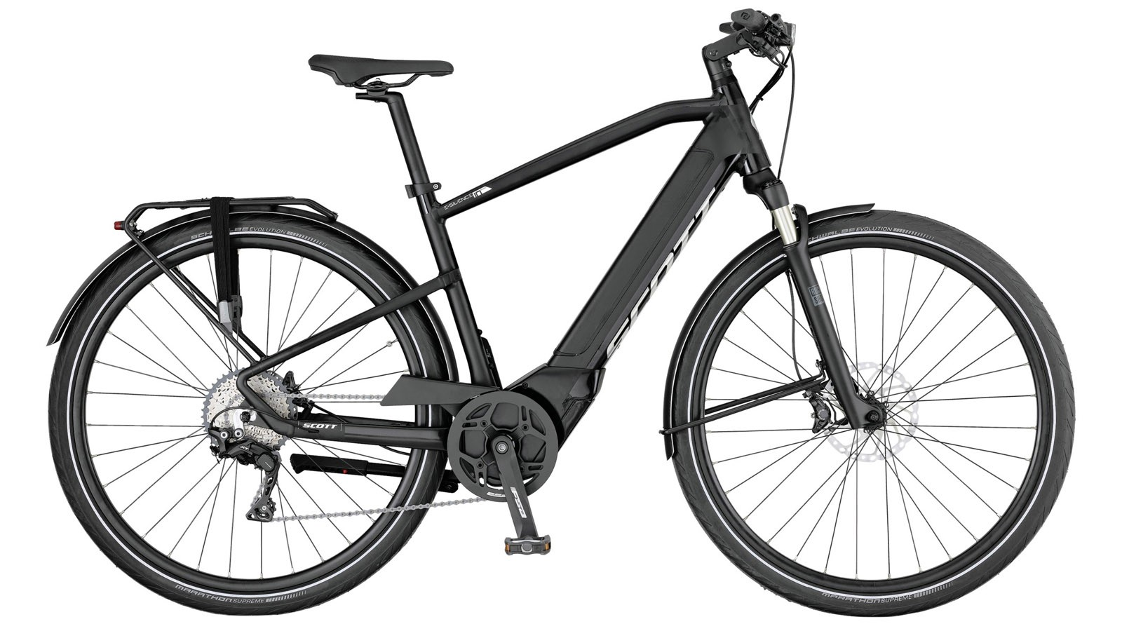 The E-Silence 10 gets a murdered out black paint job and a standard chain-driven Shimano drivetrain