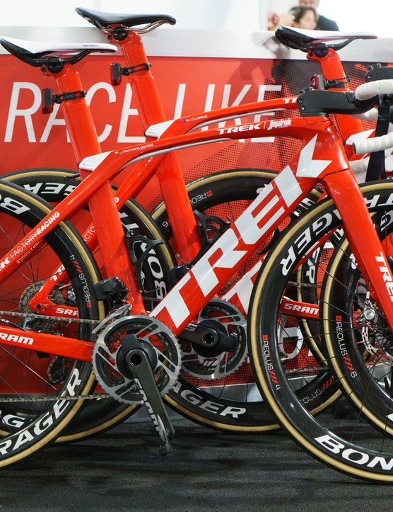 Both Trek-Segafredo and Katusha-Alpecin are using the new groupset