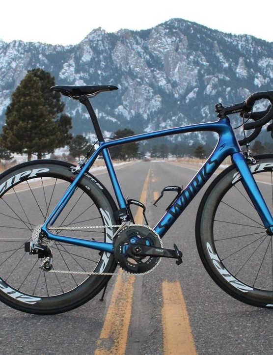 We are testing the eTap group on a 2016 Specialized S-Works Tarmac