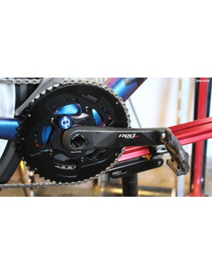 Notably, the eTap group can be bought with an integrated Quarq power meter. This is the first such offering of its kind from any of the big component makers