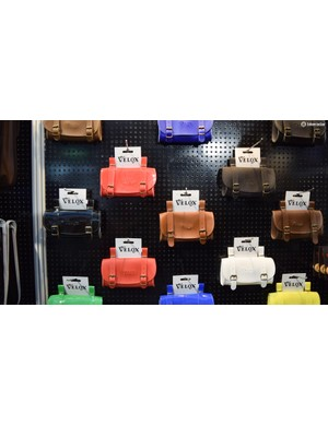 French manufacturer Velox was showing off this range of traditionally-styled saddle bags in a huge range of colours