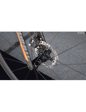 Giant have gone with 12mm thru-axles front and rear in line with the new UCI standard