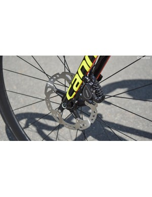 Cannondale has sensibly opted for a thru-axle fork...