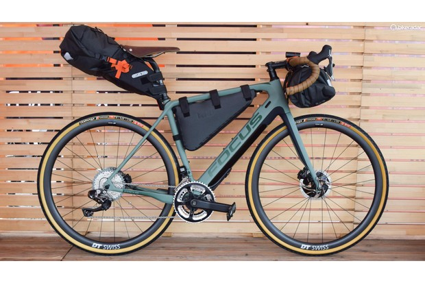 The Project Y looks amazing in bikepacking guise. You could be forgiven for not realising there's a 250W Fazua motor/battery unit hidden in the down tube