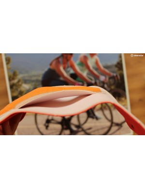 The Pro Escape chamois is two pieces that are only attached at tip and tail