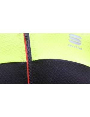 The honeycomb fabric is great for wicking, according to Sportful