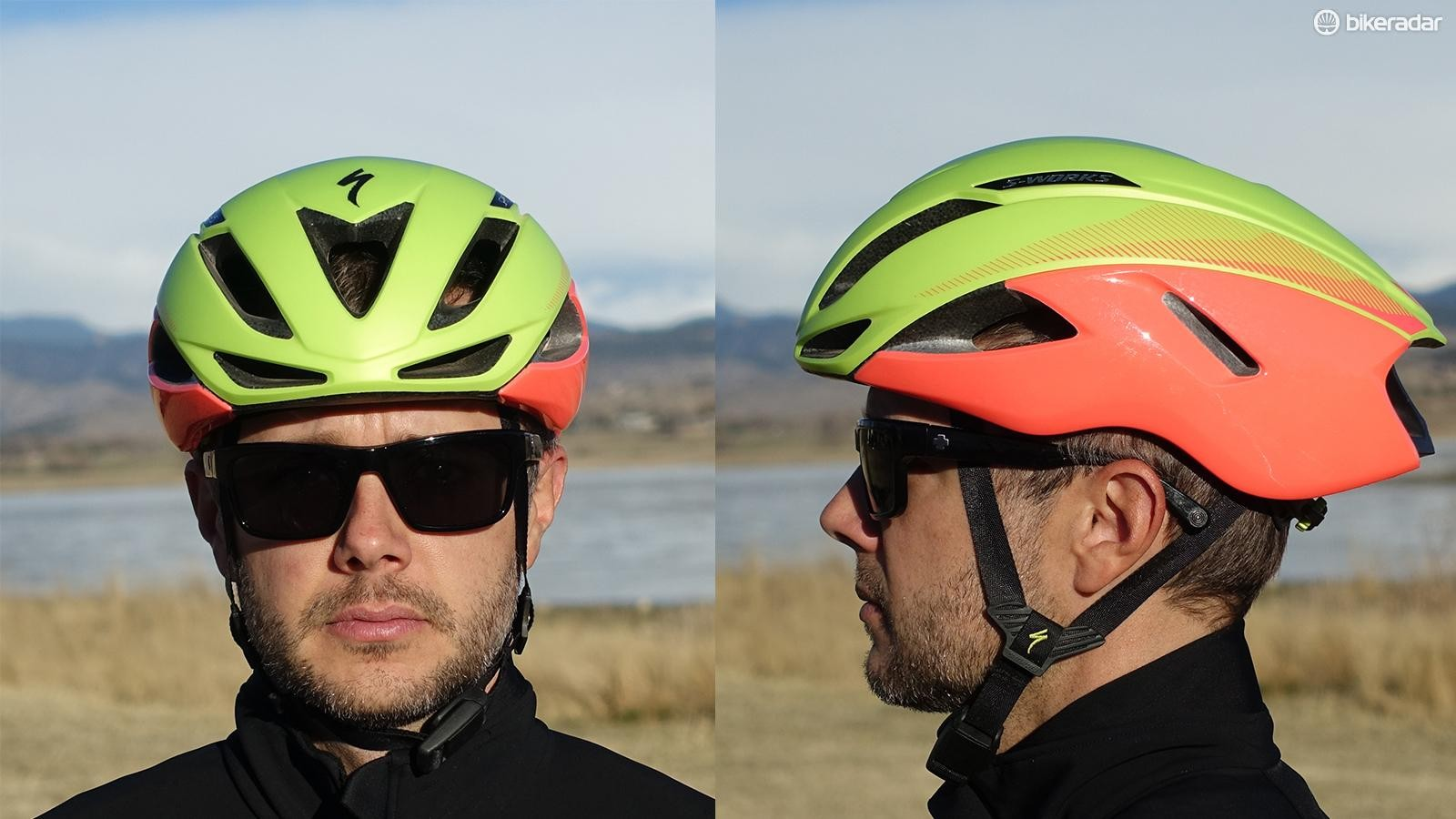 The Evade II is 1cm shorter than the original, but still has an elongated shape compared to a standard road helmet