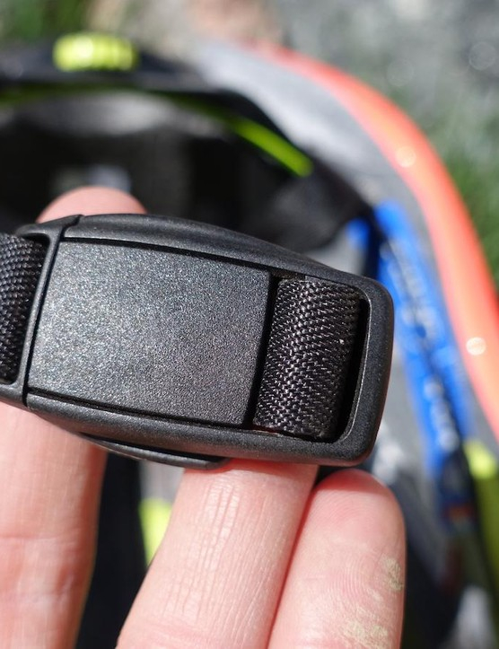 Closed, the magnetic buckle is no bulkier than traditional clasps