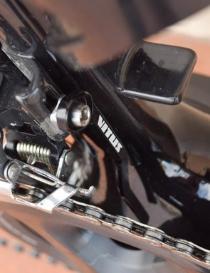 A chain catcher protects your carbon investment in the event that you muck up your derailleur adjustment