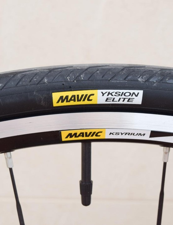 The wheels are fitted with Mavic's own rubber