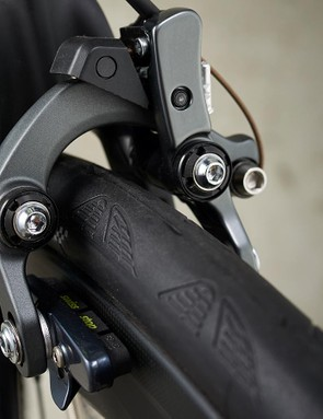 The Shimano Ultegra direct-mount brakes provide plenty of force and feel