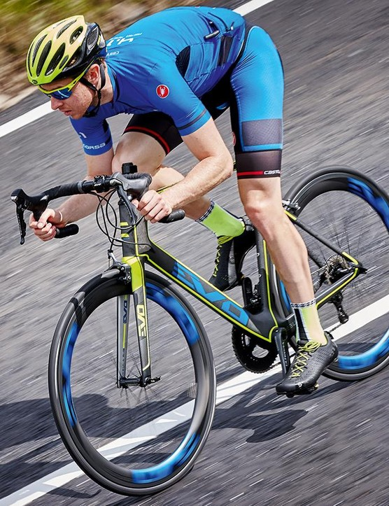The bike is at its best when blasting along on flat or lightly rolling terrain
