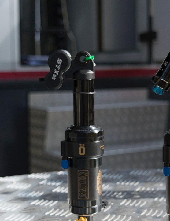 Öhlins showcased its growing range of air shocks