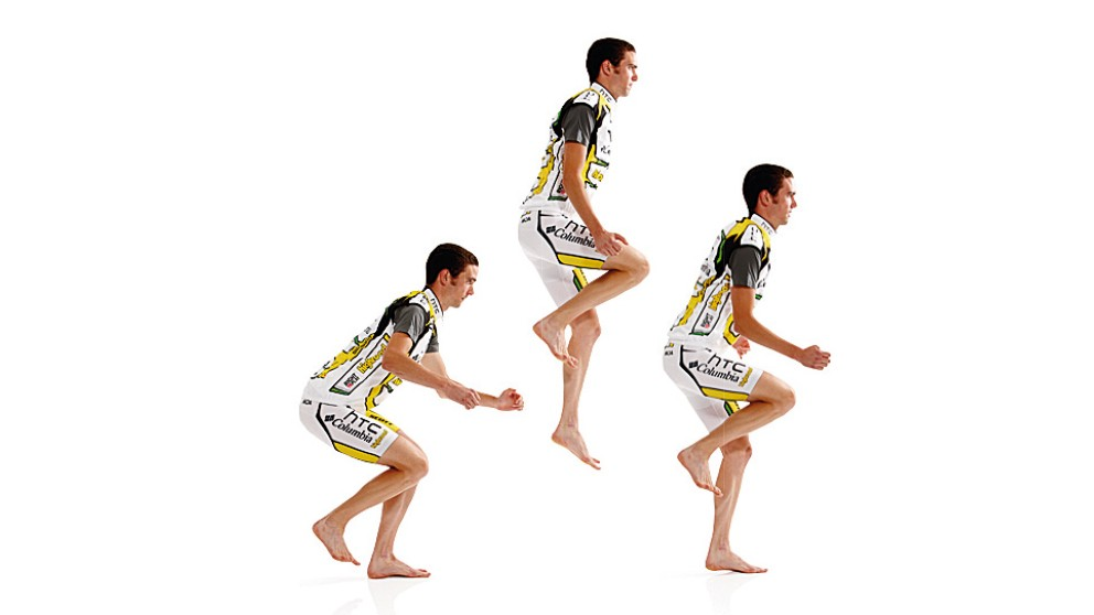 Do 10 in a row on one leg before turning around and repeating on the other