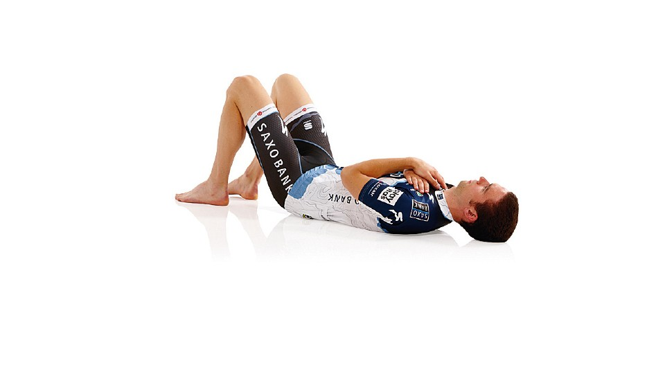 This exercise specifically strengthens the transverse abdominis (TVA) core and multifidus spine-stabilising muscles