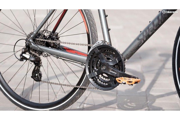 This is the kind of drivetrain you're most likely to encounter on your bike