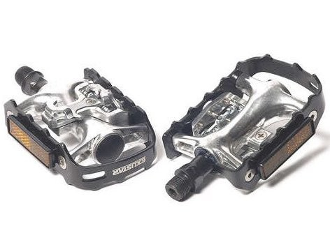 The PM82s enable you to switch between clipped and clipless rides.