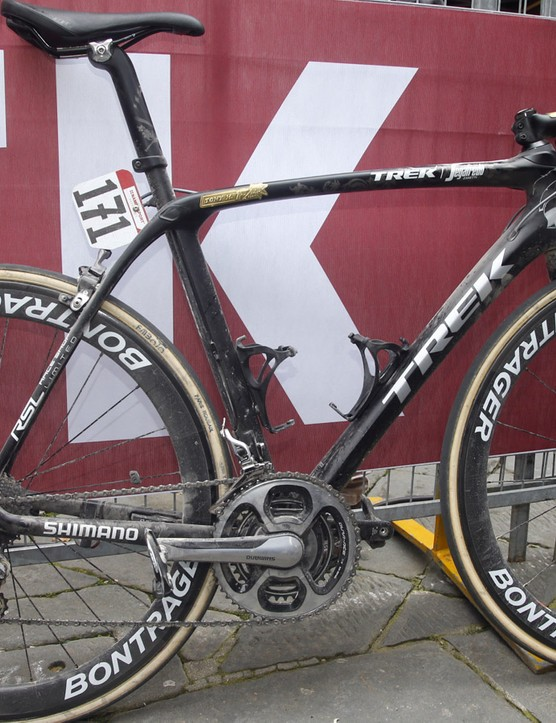 Could this be the 2017 Trek Domane? Given it's currently being raced by Fabian Cancellara, we think so
