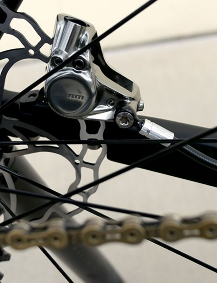 The SRAM Red eTap system remains largely stock