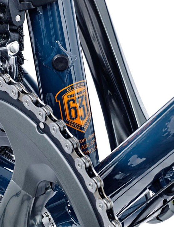 Both the frame and fork are constructed from Reynolds 653