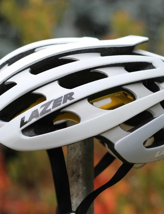 The 190g Z1 MIPS comes in three sizes, and works with Lazer's accessories like the LifeBeam heart-rate monitor that works on your forehead, and the Z-Led light that tucks into the back of the helmet