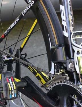 The FSA electronic gears on Bryan Coquard's bike