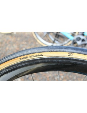 27mm is about the skinniest you will find, with 28mm being the standard for Roubaix