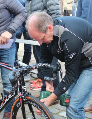 Lotto-Soudal, like most teams, carefully prepared each tubular to the front and rear specifications of the rider