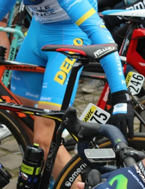 At the start line, riders felt each others' tubulars. Some let out even more air from their own